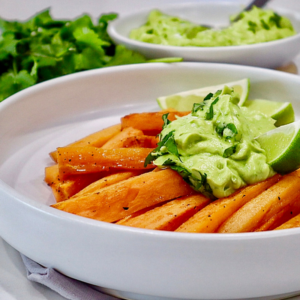 Sweet Potato Fries with Avo Dip Glamor Hippie